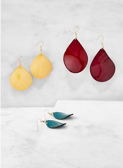 Plastic Drop Earrings - 1122071431023