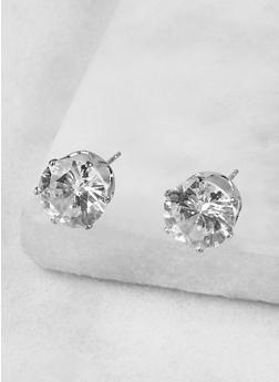 Round 10mm Cubic Zirconia Earrings - 1122071431072