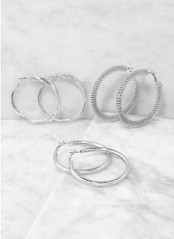 Assorted Hoop Earring Trio - 1122071431515