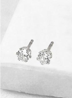Round 4mm Cubic Zirconia Earrings - 1122071434928
