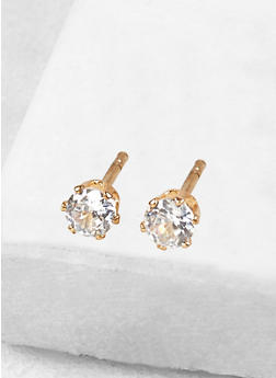 Round 4mm Cubic Zirconia Earrings - 1122071434928