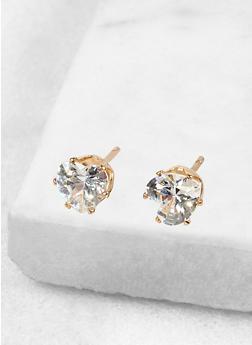 Heart 6mm Cubic Zirconia Earrings - 1122071435072