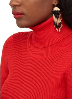 Beaded Stick Fringe Earrings - 1122071436118