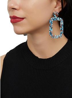 Rectangular Drop Earrings - 1122071436119