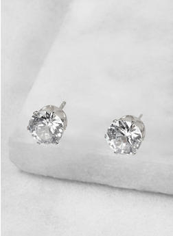 Round 8mm Cubic Zirconia Earrings - 1122071438072