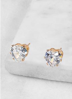 Heart 9mm Cubic Zirconia Earrings - 1122071439928