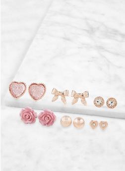 Set of 6 Stud Earrings - 1122072690136