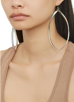 Set of 3 Oversized Drop Earrings - 1122072690900