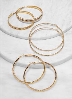 Textured Jumbo Hoop Earrings - 1122072694732