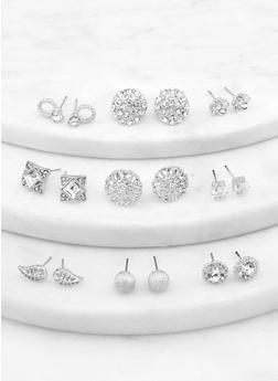 Assorted Metallic Rhinestone Earrings - 1122072698362