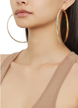Oversized Hoop Earring Trio - 1122072699727