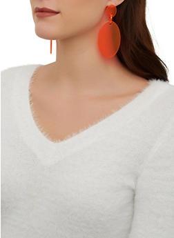 Neon Oval Drop Earrings - 1122074141157