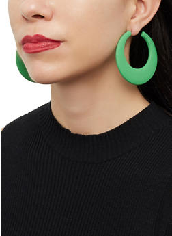 Matte Hoop Earrings - 1122074141266