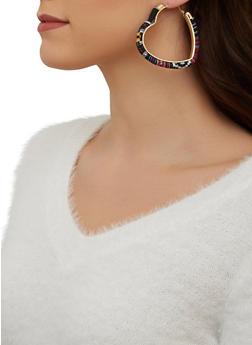 Woven Heart Hoop Earrings - 1122074141272