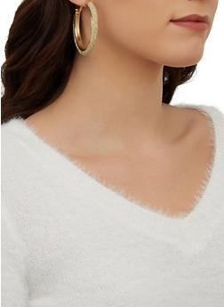 Lurex Hoop Earrings - 1122074141277