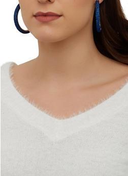 Lurex Hoop Earrings - 1122074141277