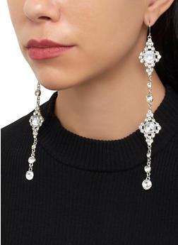 Rhinestone Chandelier Earrings - 1122074171804