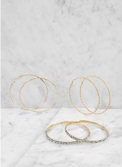 Oversized Hoop Earring Trio - 1122074174591