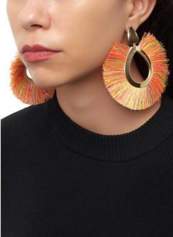 Fringe Fan Drop Earrings - 1122074178123