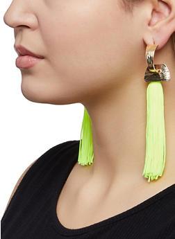Neon Tassel Earrings - 1122074374498