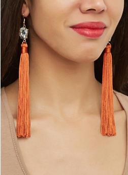 Jeweled Tassel Earrings - 1122074752204