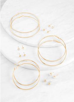 9 Stud and Hoop Earrings - 1122074974156