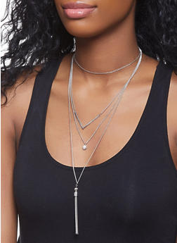 Layered Charm Necklace - 1123044092658