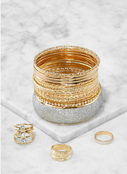 Trio of Rings and Bangles - 1123057695581