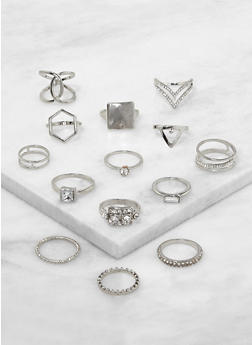 Set of 14 Assorted Rings - 1123062920503