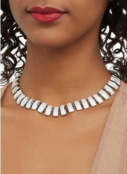 Glitter Chain Necklaces with Bracelets and Stud Earrings - 1123062921571