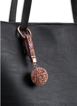 Rhinestone Ball Keychain - 1123062922146