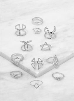 Set of Assorted Metallic Rings - 1123062923045
