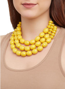 Large Beaded Necklace and Earrings - 1123062923840
