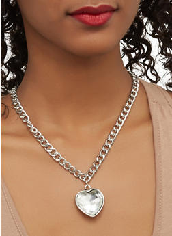 Set of Charm Necklaces with Stud Earrings - 1123062927127