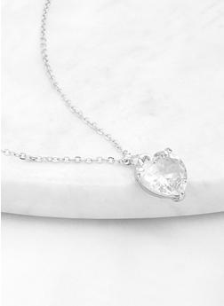 Large Heart Pendant Necklace - 1123071431112