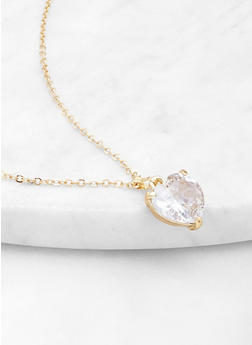 Large Heart Pendant Necklace - 1123071431112