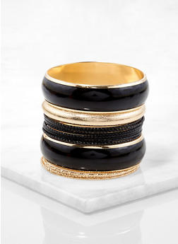 Plus Size Set of Assorted Bangles - 1123071432142
