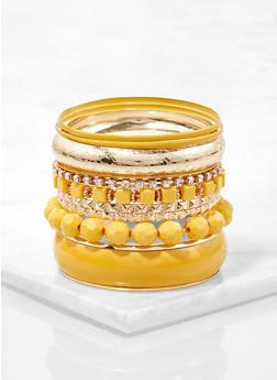Plus Size Metallic Bangles - 1123071434222