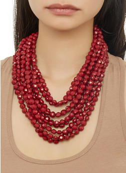 Layered Beaded Necklace - 1123071434324