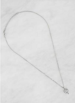 Heart Cubic Zirconia Necklace - 1123071434758