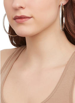 Blessed Layered Necklace with Hoop Earrings - 1123072696755