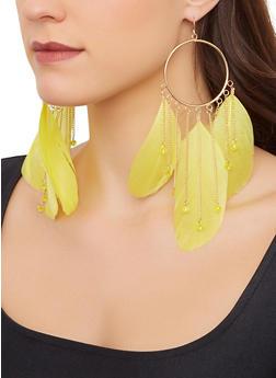 Dream Catcher Feather Earrings - 1123074173130