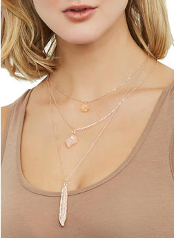 Layered Charm Necklace - 1123074752517