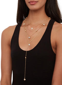 Layered Charm Necklace - 1123074752519
