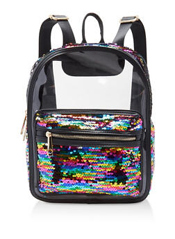 Multi Sequin Clear Backpack - 1124040320822