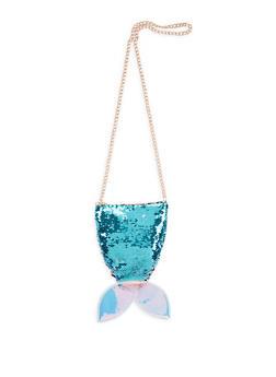 Reversible Sequin Mermaid Crossbody Bag - 1124040320851