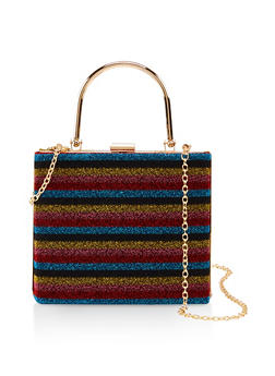 Square Structured Crossbody Bag - MULTI COLOR - 1124061591112