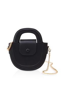 Half Circle Chain Strap Crossbody Bag - 1124061592301