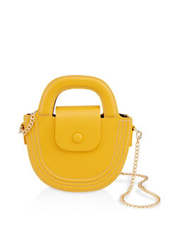 Half Circle Chain Strap Crossbody Bag - 1124061592301