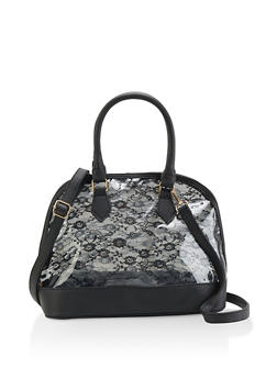 Clear Lace Bowler Bag - 1124061595490